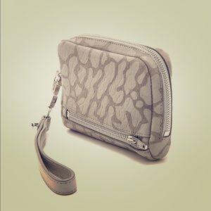 Alexander wang leather leopard Fumo wristletwallet